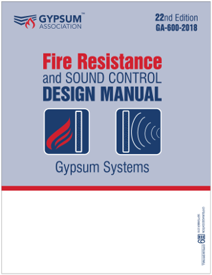 GA-600-2018 - Fire Resistance and Sound Control Design Manual PREMIUM VERSION