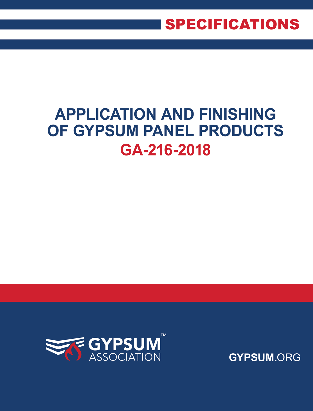 GA-216-2018 Application and Finishing of Gypsum Panel Products